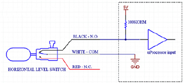 Horizontal Level Switch being read by uProcessor