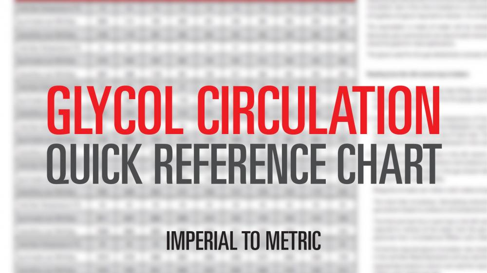 Glycol Circulation Conversion Chart